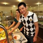 Die Kapazitäten bei der Essensausgabe werden erhöht