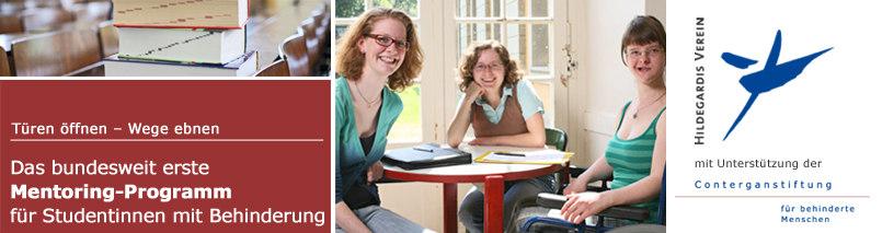 Bundesweit erstes Mentoring-Programm für Studentinnen mit Behinderung