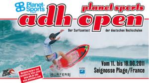 Plakat ADH Open Wellenreiten 2011