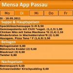 Screenshot Mensa Passau App
