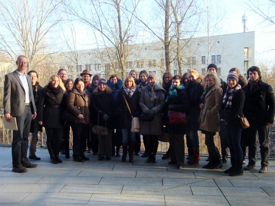 """Die Teilnehmer des """"DAAD-Winterseminar Migration im Ost-West-Kontakt"""""""