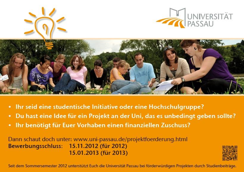 Förderung von studentischen Initiativen und Projekten an der Universität Passau