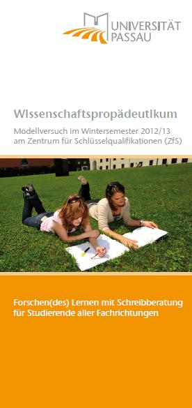 """Wissenschaftspropädeutikum: """"Forschen(des) Lernen mit Schreibberatung"""""""