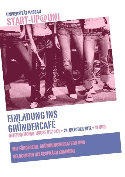 Flyer: Gründercafé Start Up!