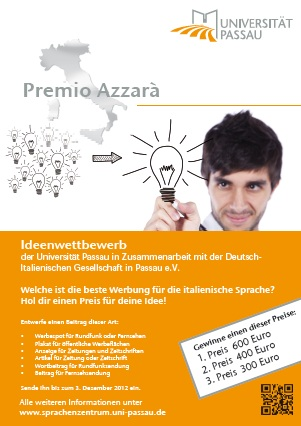 "Ideenwettbewerb ""Premio Azzarà"""