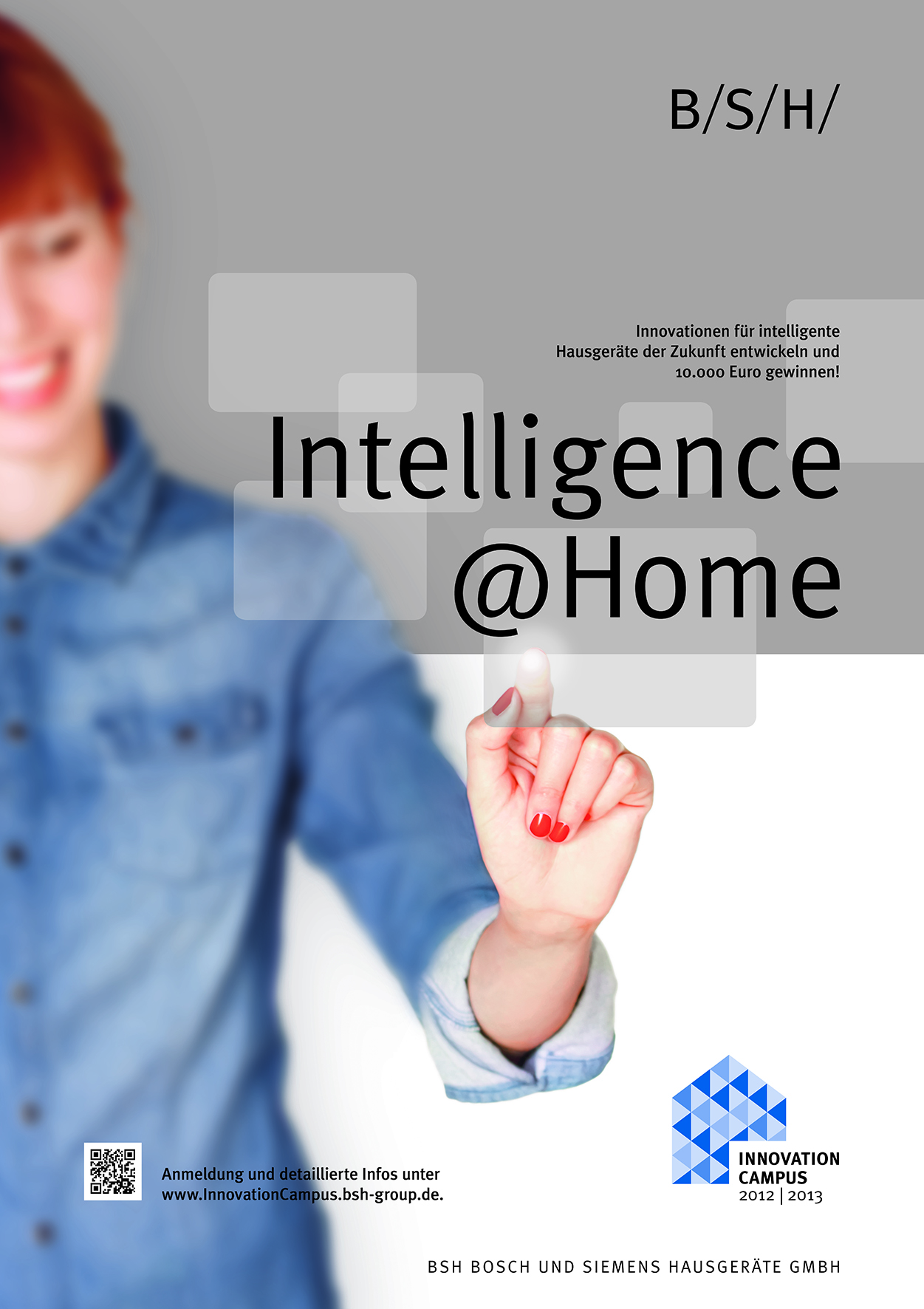 Plakat: Intelligence@Home Hochschulwettbewerb