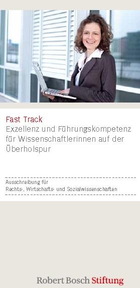 Fast Track Stipendium 2013 der Robert Bosch Stiftung
