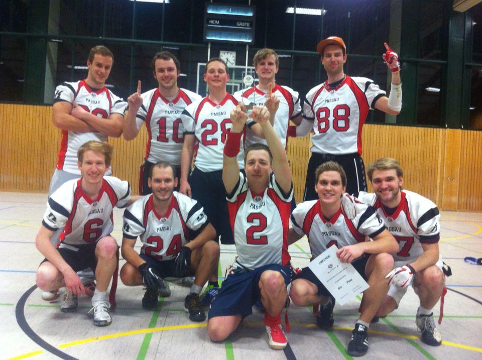 Foto: die Siegermannschaft der Red Wolves