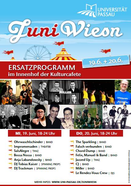 JuniWiesn 2013: Ersatzwiesn an der Universität Passau