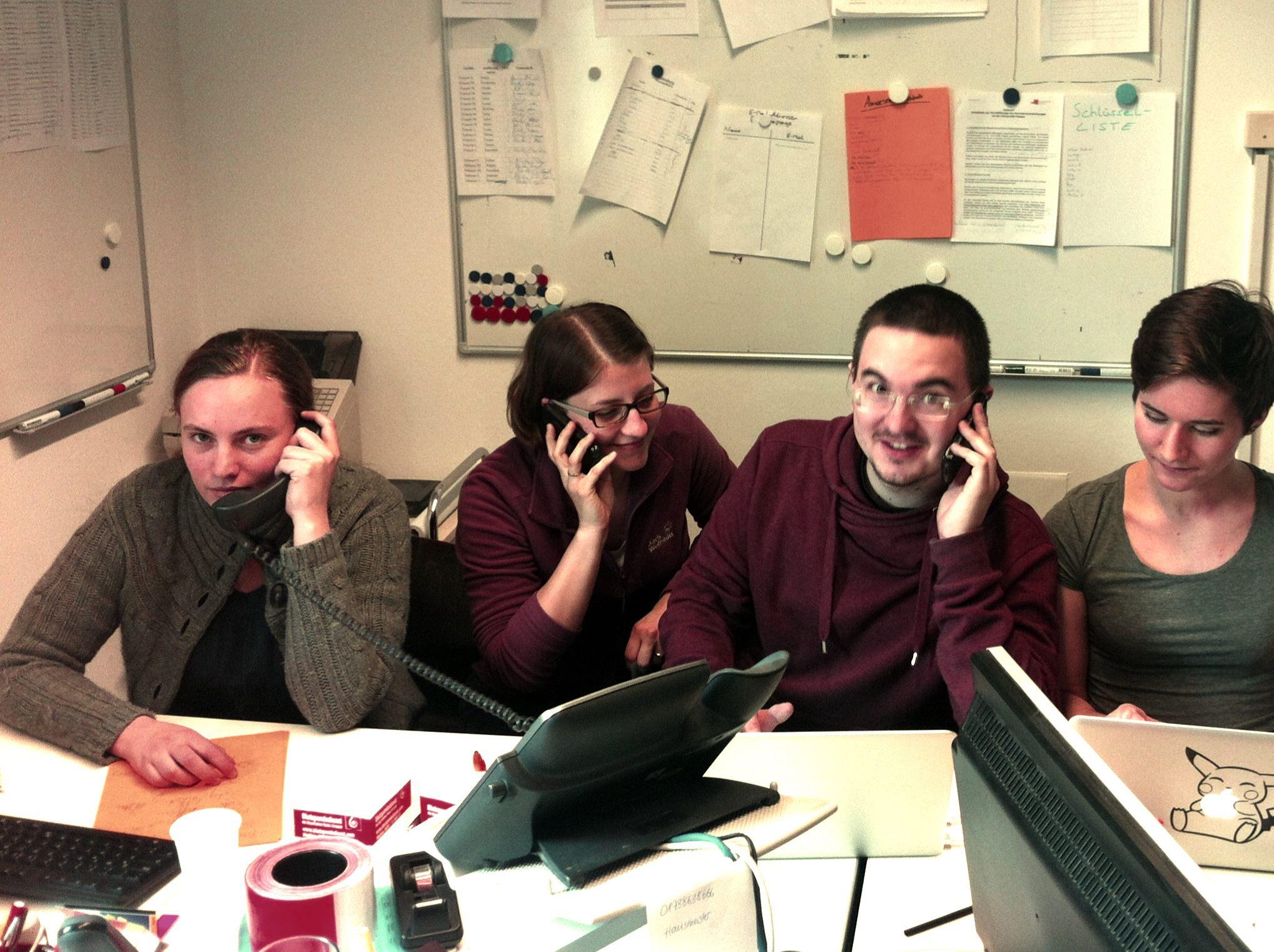 Das Team von Passau räumt auf