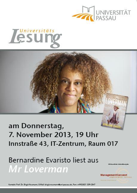 Universitätslesung 2013: Bernardine Evaristo