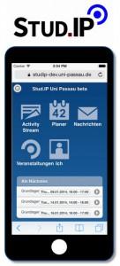Mobile Ansicht von Stud.IP 3.0