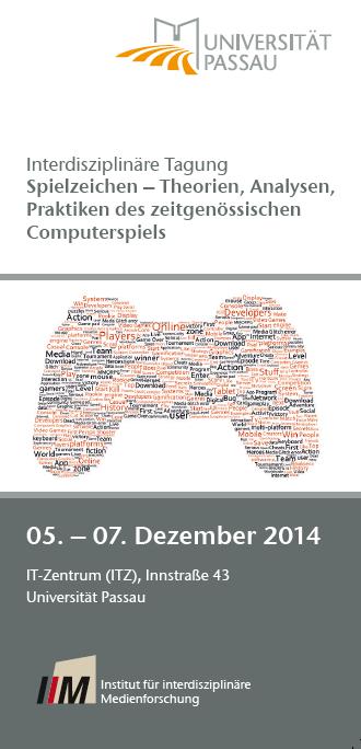 Flyer: Interdisziplinäre Tagung Spielzeichen