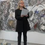 Brigitte Schira,  Akademische Oberrätin und Dozentin an der Professur für Kunstpädagogik / Ästhetische Erziehung der Universität Passau bei ihrer Einführungsrede.