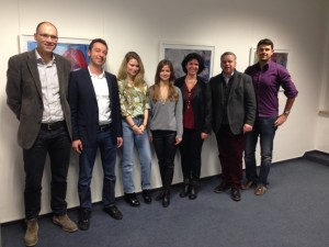 v.l.n.r.: Dr. Günther Hribek, Stefan Jelinek, Ann-Britt Dittmar, Katharina Baumann, Alexandra Horsch, Dr. Achim Dilling, Florian Philipp