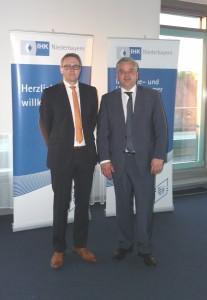 Hr. Klement, IHK Niederbayern und Dr. Dilling, Initiator des Gründercafés