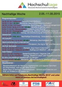 Programm: Nachhaltige Woche 2015