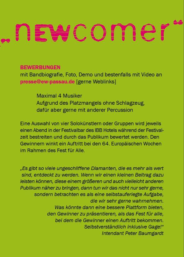 Band-Wettbewerb : Campus Passau Blog