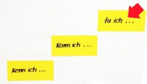 """Huber legt viel wert auf die Vermittlung der drei Lernstufen """"kenn ich"""", """"kann ich"""", """"tue ich""""."""