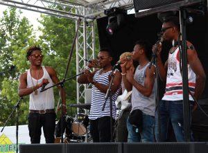 Band auf einer Bühne beim Passauer Kultur Jam 2017