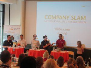 Die Referierenden beim Company Slam
