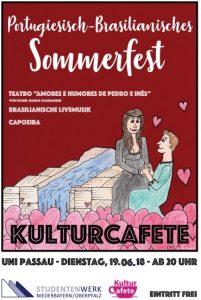 Informationsflyer portugiesisch-brasilianisches Sommerfest