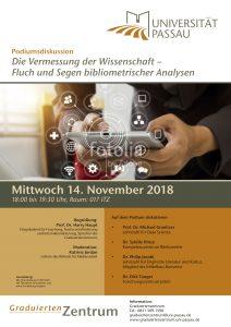 Plakat der Podiumsdiskussion