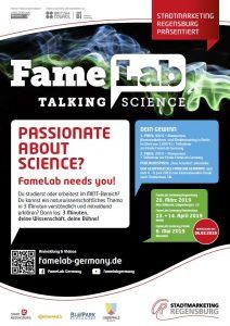 Plakat des FameLab 2019