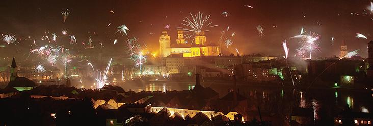 Feuerwerk über Passau