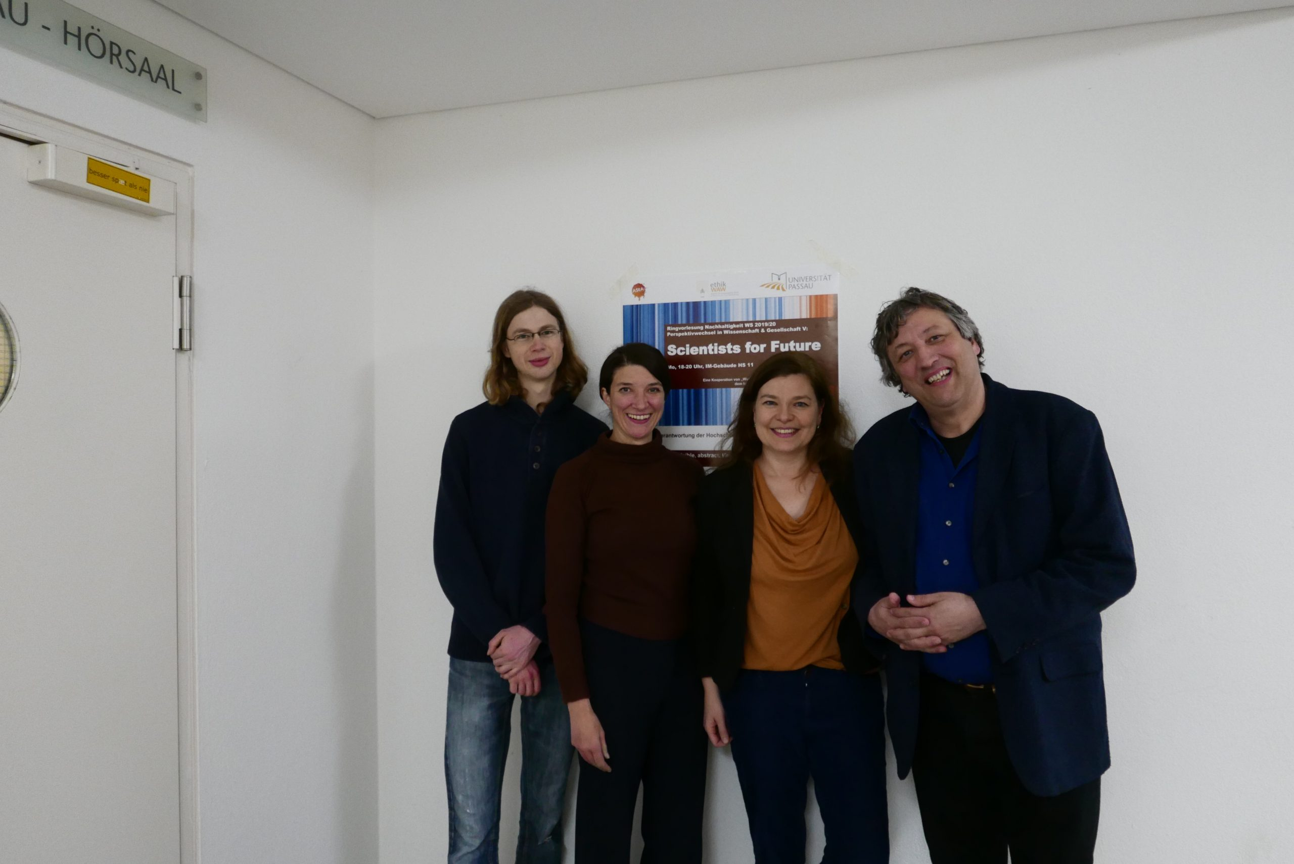von links nach rechts: Janis Müller, Dr. Stefanie Wehner, Dr. Annegret Meißner, Prof. Dr. Bernhard Stahl