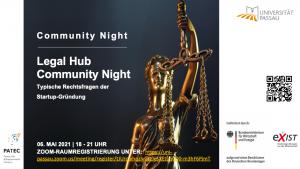 Flyer Community Night Legal Hub