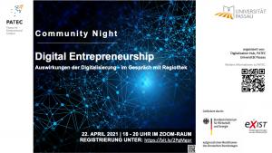 Flyer Community Night Digital Entrepreneurship