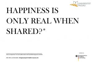 """""""happines is only real when shared?"""""""