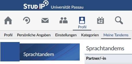 Stud.IP Profil Meine Tandems